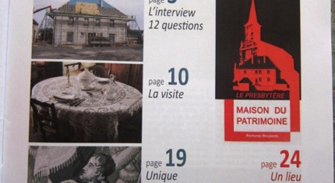 Un numéro de la revue RACINES entièrement consacré à la Maison du Patrimoine