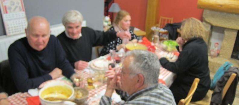 Repas de l'APPL à l'auberge de Remoray après l'AG du 8 avril 2016