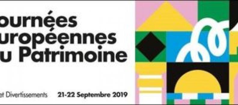 Journées Européennes du Patrimoine – 21 et 22 septembre 2019